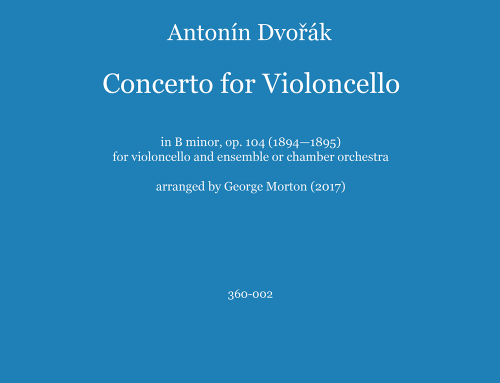 Dvorak's Cello Concerto arranged for soloist and chamber ensemble